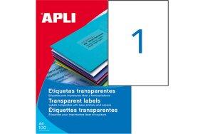 WEATHERPROOF  TRANSP. POLYESTER LABELS APLI N.01225